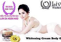 Kem Olivia dưỡng thể siêu trắng da Body Whitening Cream Olivia USA